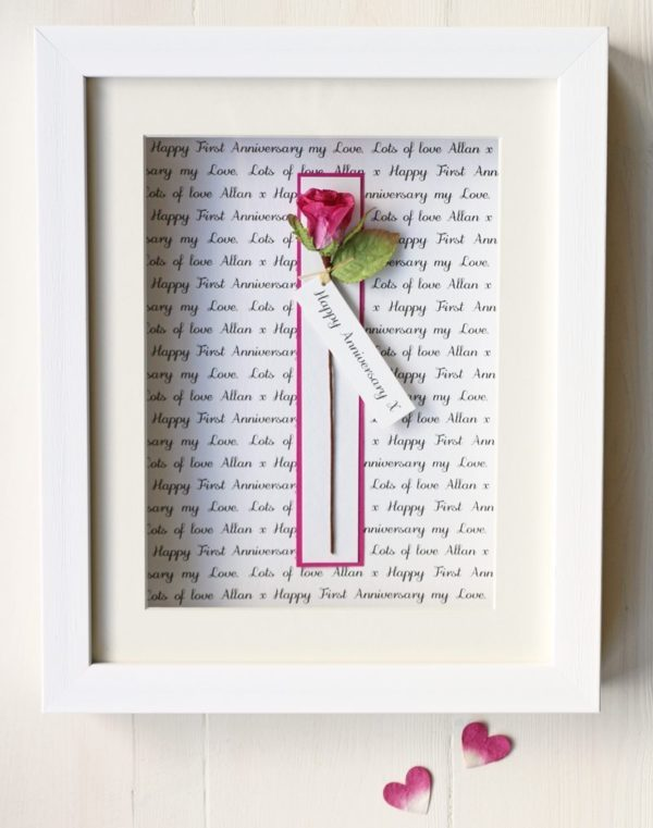 Personalised Rose Picture